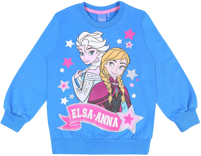 Blue Top Sweatshirt for Girls Anna /& ELSA Frozen Disney