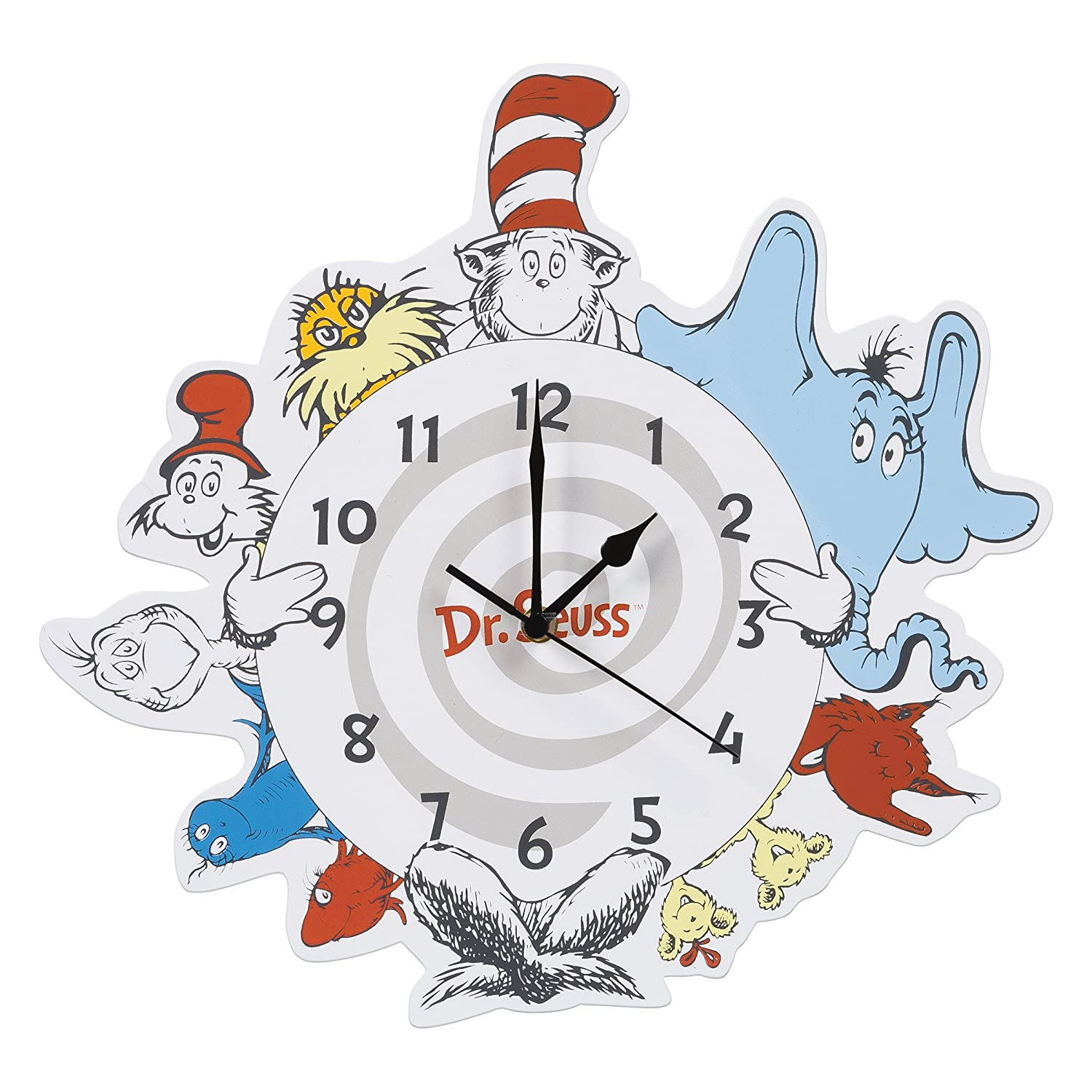 Trend Lab Dr. Seuss Friends Wall Clock, Multi 30427