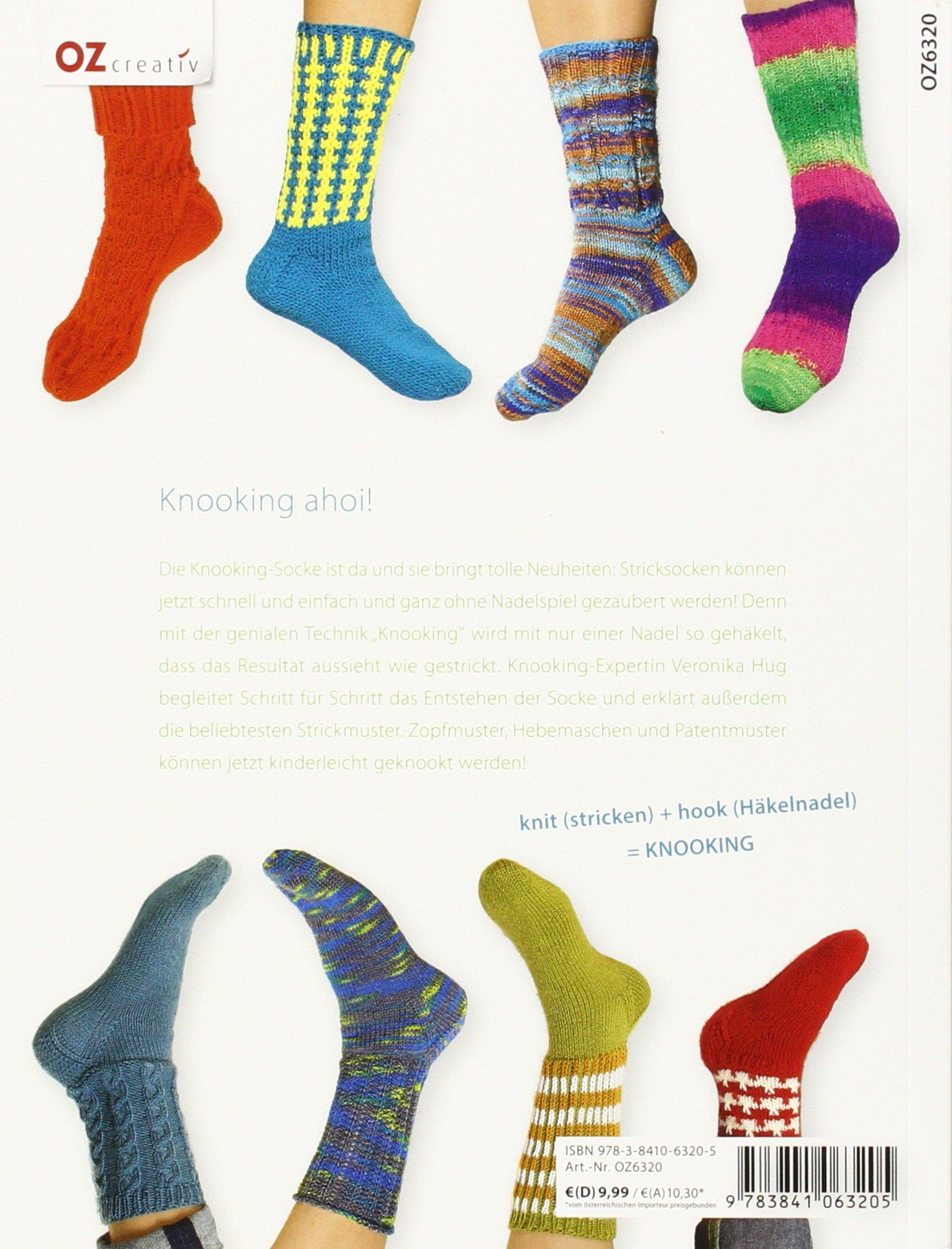 Amazonfr Die Knooking Socke Socken Häkeln Wie Gestrickt