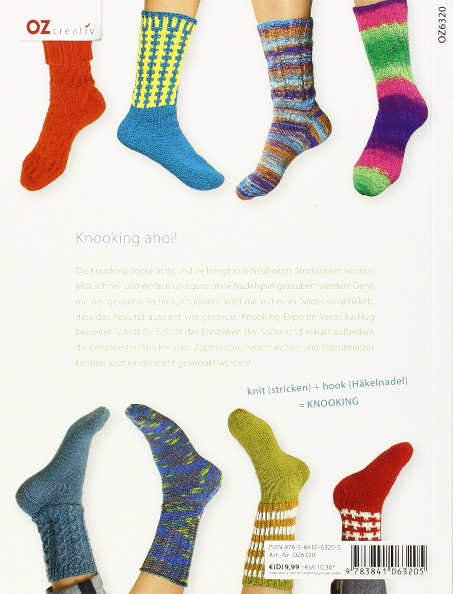 Die Knooking Socke Socken Häkeln Wie Gestrickt Amazonde Veronika