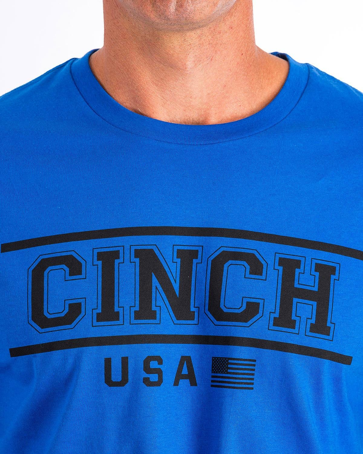 Cinch  Men's Short Sleeve Jersey Tee Blue X-Large by Cinch (Image #4)