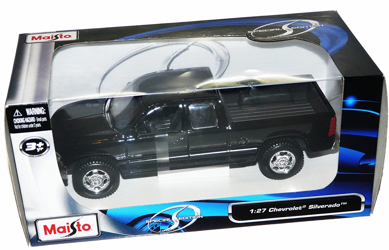 Maisto Chevrolet Silverado Special Edition Pickup Truck 1//27 Scale Diecast Model Vehicle Black 31941