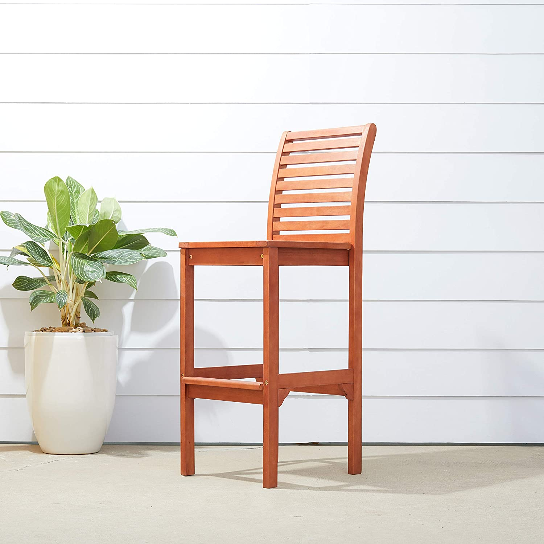 Vifah Malibu Outdoor Bar Chair: Garden & Outdoor