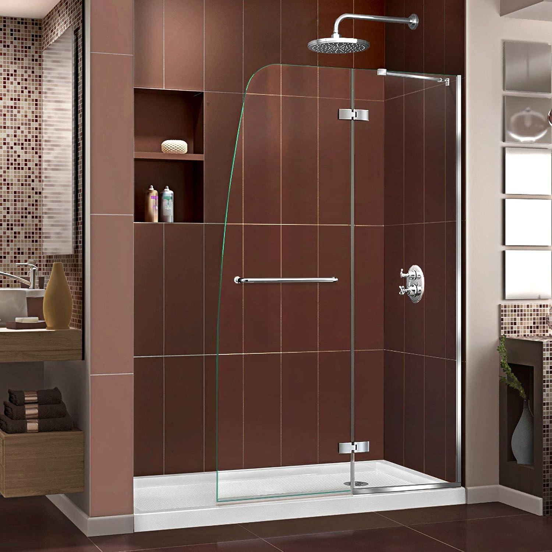 DreamLine Aqua Ultra sin marco puerta de ducha y Slimline 36