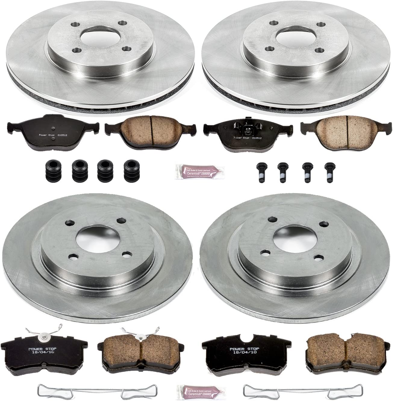 2005 2006 2007 Ford Focus Non SVT OE Replacement Rotors Metallic Pads F