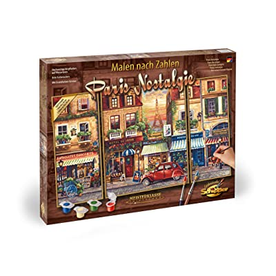 Norris Paint by#S: Paris Nostalgia (Tryptych) Paint by#: Toys & Games