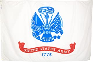 product image for Annin Flagmakers Model 439021 U.S. Army Military Flag 4x6 ft. Nylon SolarGuard Nyl-Glo 100% Made in USA to Official Specifications. Officially Licensed Manufacturer.