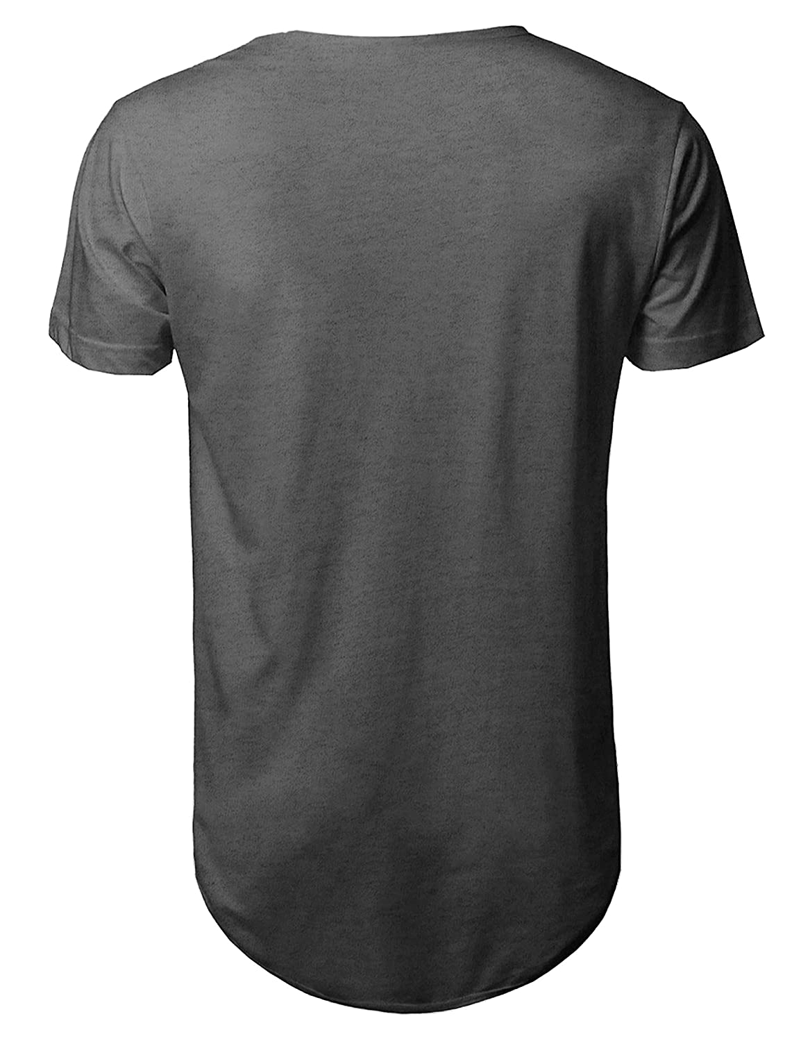 3334593f70ea Amazon.com  Hat and Beyond Mens Basic Hipster T Shirts Hip Hop Soft Casual  Longline Tee  Clothing