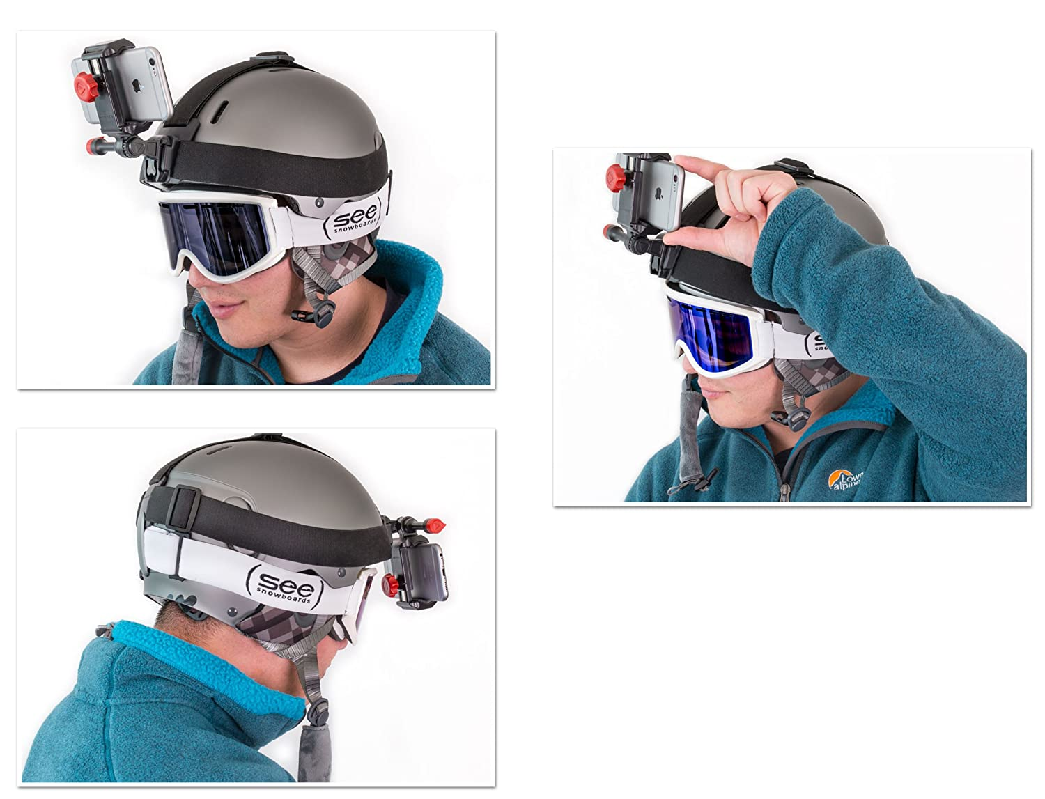 /& Hats Beanies Fits Your Smartphone iPhone Samsung Galaxy /& More Velocity Clip LYSB0171XLXQI-ELECTRNCS Ski Camera for Your Helmets