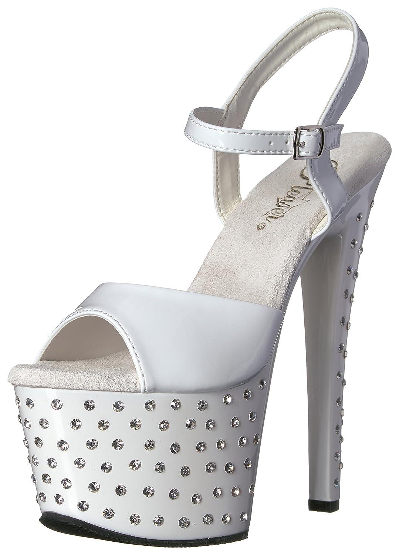 Pleaser Women's Stdus709/Withm Platform Sandal B004JHIJ7Q 11 B(M) US White Patent/White