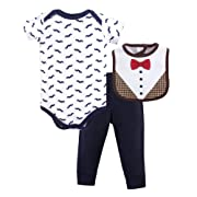 Hudson Baby Baby Multi Piece Clothing Set, Bow Tie 3, 0-3 Months (3M)