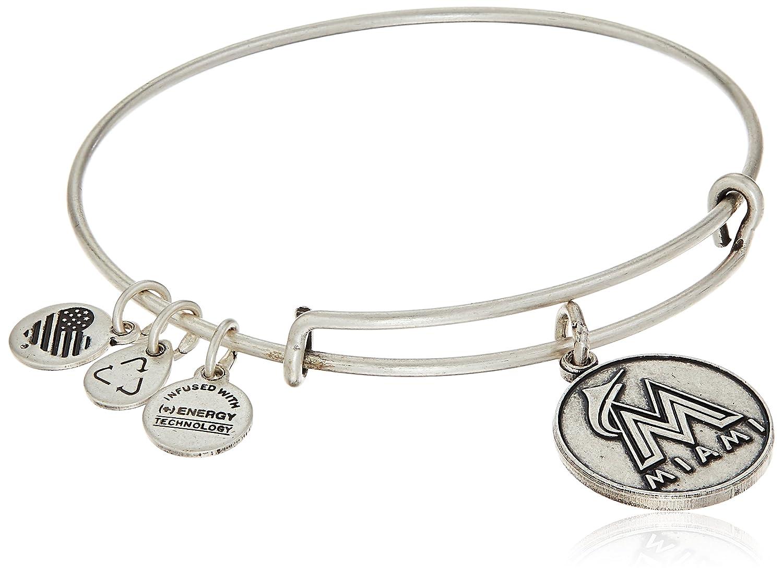 Alex and Ani Miami Marlins Cap Logo Expandable Bangle Bracelet