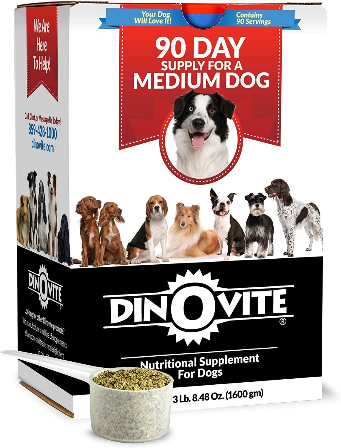 Dog Supplement - Immune + Digestive, Skin + Coat Support, Vitamins, Minerals, Omega 3, Enzymes, Probiotics. Reduces Shedding, Dry Skin, Itching, Stinking, Goopy Ears, Bald Spots, Seasonal Issues