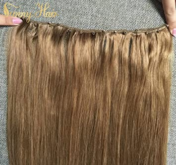 Amazon Com Sunny 22inch Micro Bead Weft Hair Extensions Brown