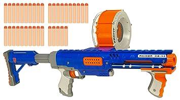 Nerf N Strike Raider Rapid Fire 35 Round Drum Clip Dart Ammo Only Clear