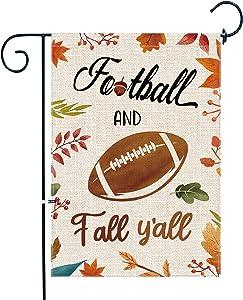 pinata Fall Garden Flag Football and Fall Y'all Outdoor Fall Decor Garden Flag 12 X 18 Double Sided Seasonal Yard Flag Burlap Football Flag Funny Autumn Flag Cute Porch Home Decor