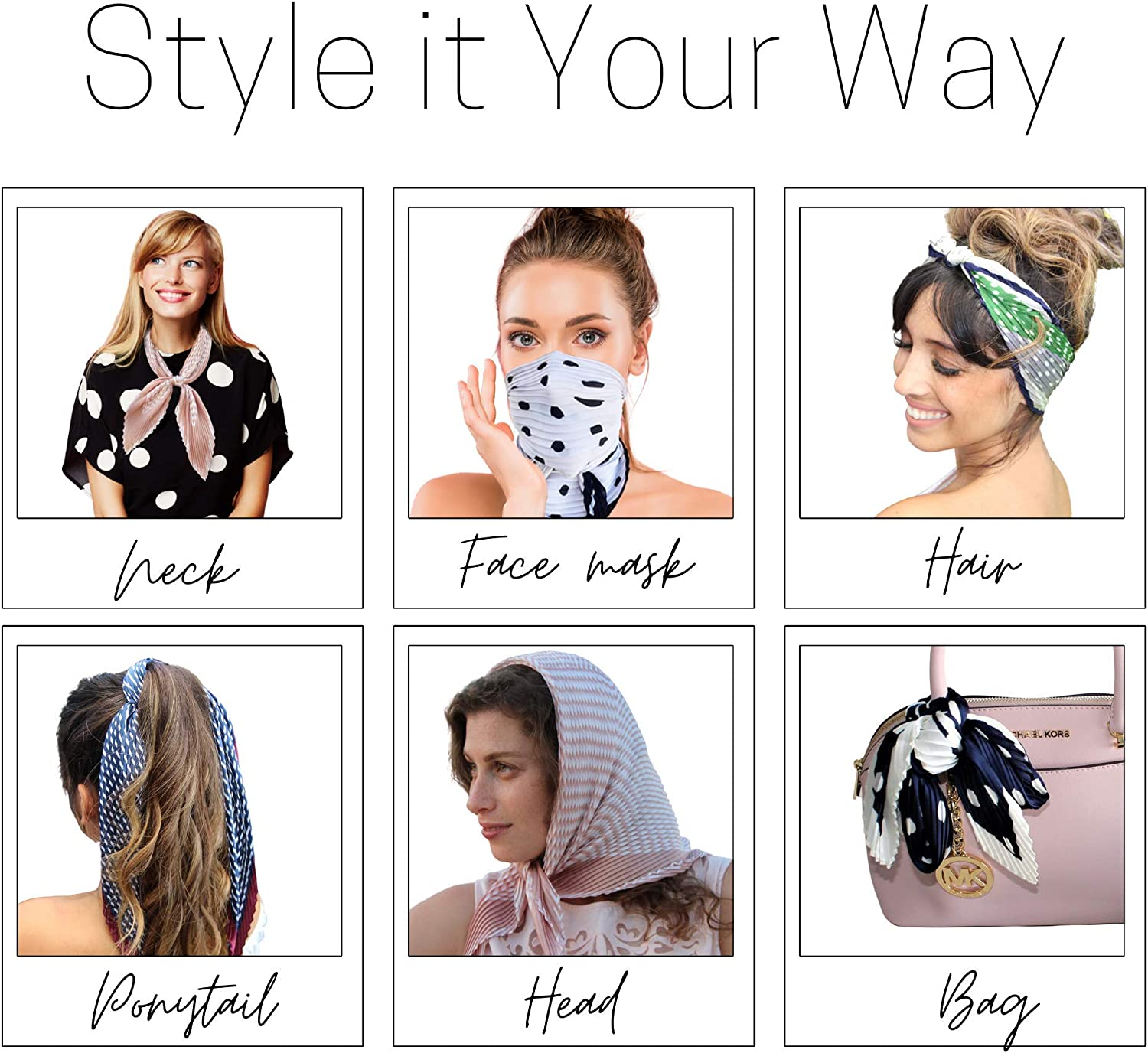Fashion headbands for women Sophie Beautiful scarfs for women 25 Colorful Choices