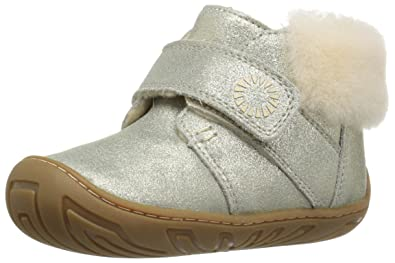 UGG Girls T Jorgen Metallic Bootie, Gold, 4 M US Toddler