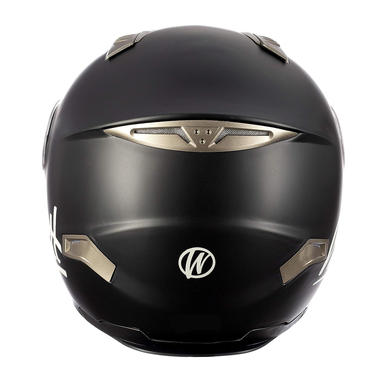 Westt Storm /· Casco Integrale Moto Nero Opaco Scooter Motorino /· Casco Motociclo /· Omologato ECE