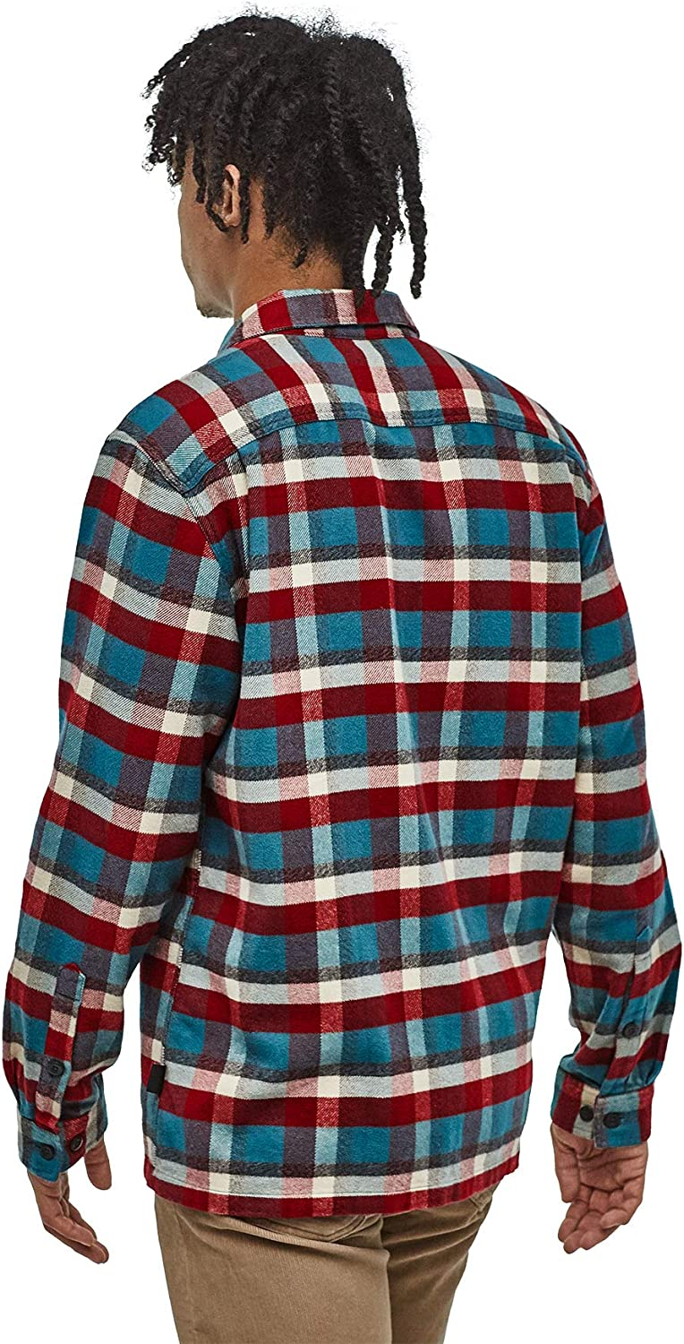 Patagonia Fjord Mens Flannel Shirt M's L/S, Men, M'S L/S Fjord Flannel Red (500)
