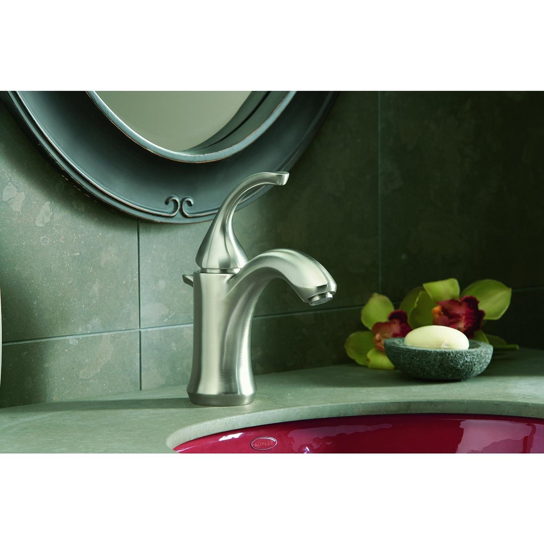 KOHLER K-10215-4-BN Forte Single Control Lavatory Faucet, Vibrant ...