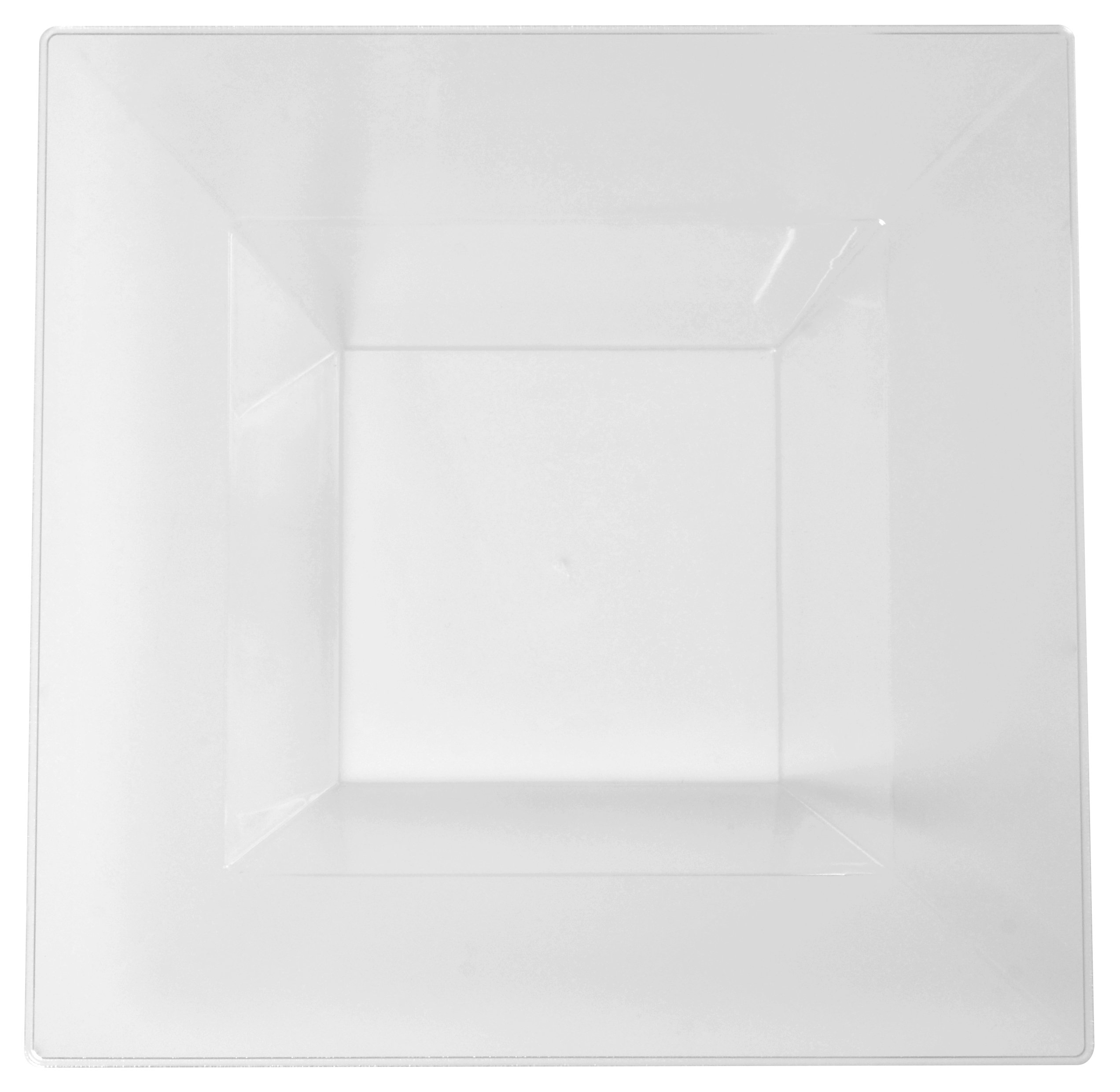 Fineline 12 oz Square Bowl Clear (Case of 120) (10 x 12), Clear