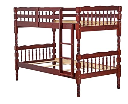 Amazon Com 100 Solid Wood Arlington Twin Twin Bunk Bed By Palace