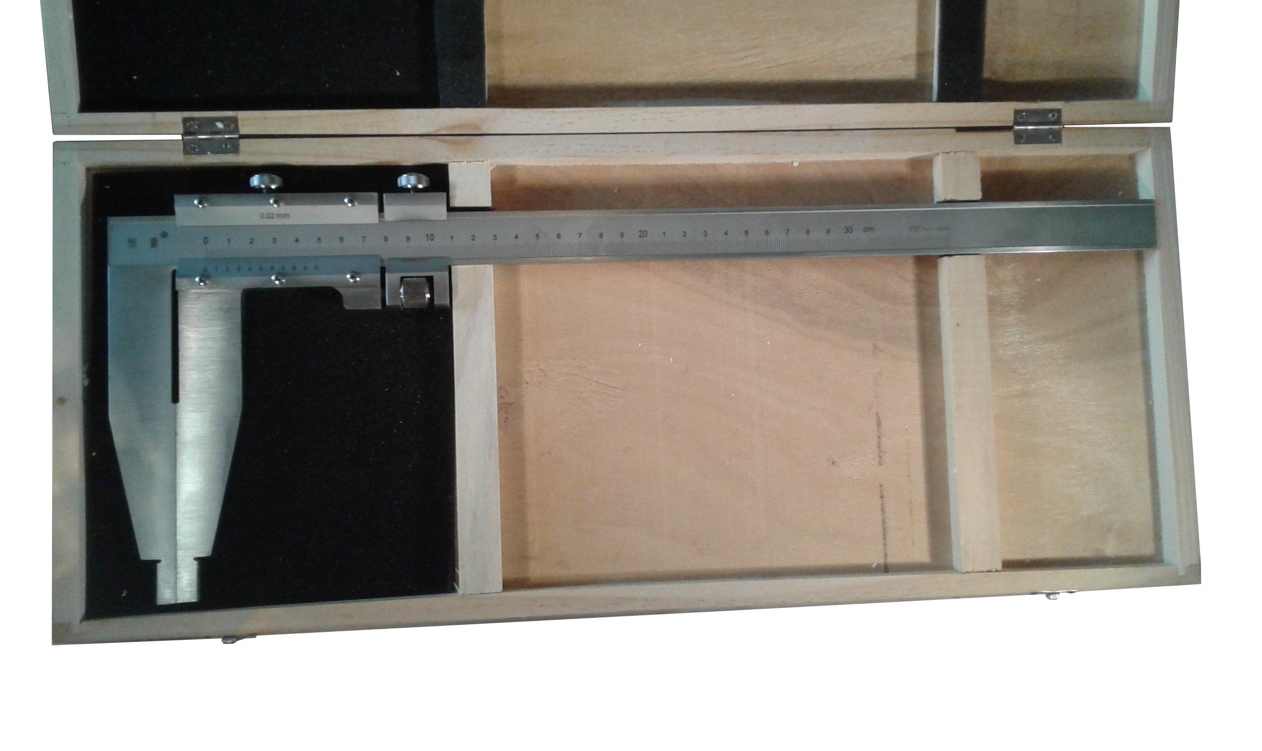 Long Jaw Vernier Caliper 300mm 12'' Heavy Duty Steel w/ Case by Generic (Image #2)