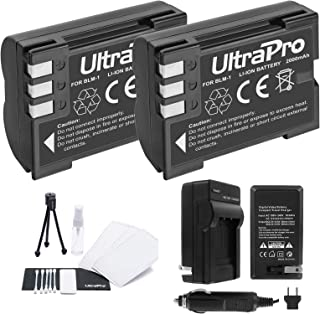 BLM-1 Battery 2-Pack Bundle with Rapid Travel Charger and UltraPro Accessory Kit for Select Olympus Cameras Including E-300, E-330, E-500, E-510, E-510, and E-520