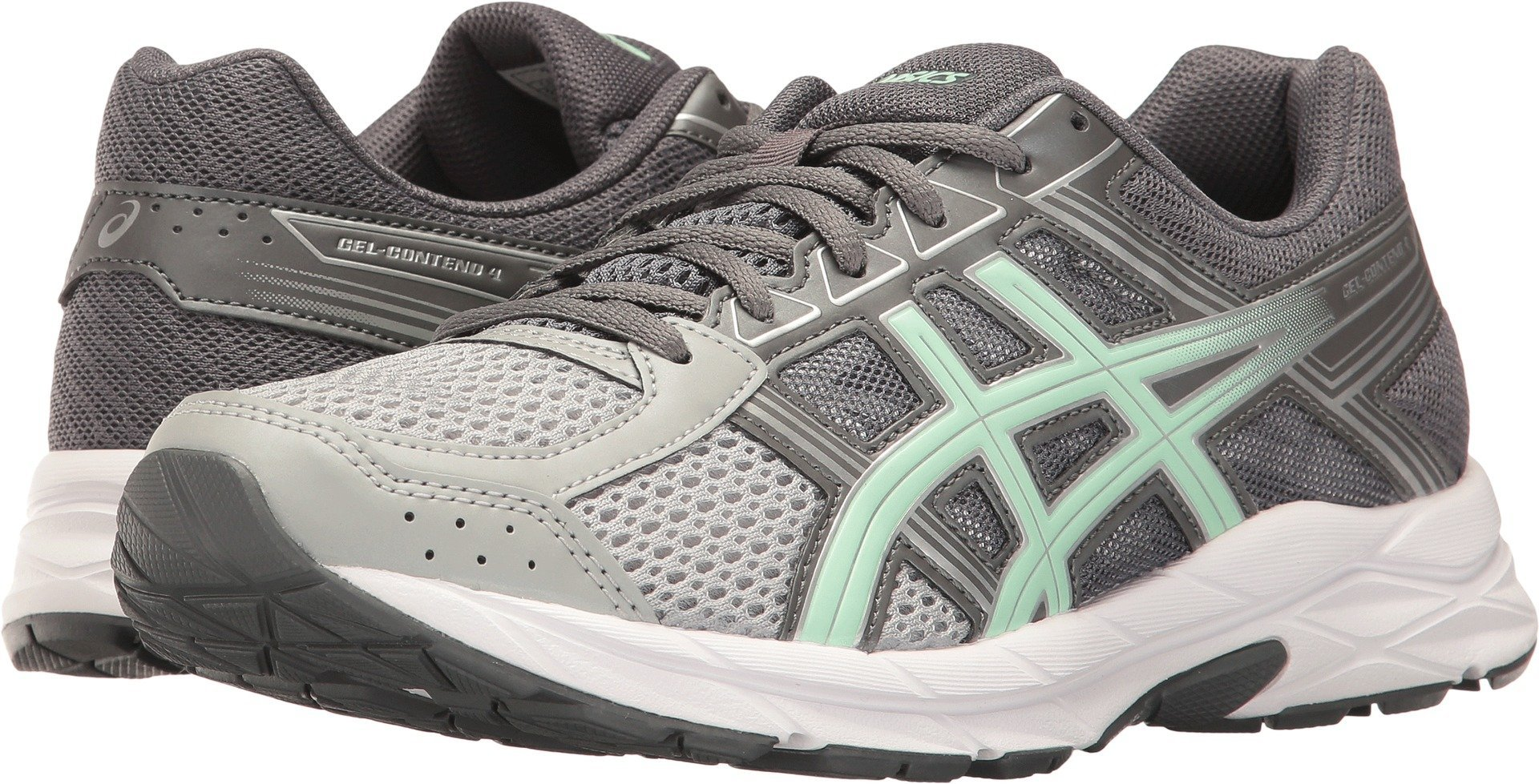 ASICS Gel-Contend 4 Women's Running Shoe, Mid Grey/Glacier Sea/Silver, 5 W US