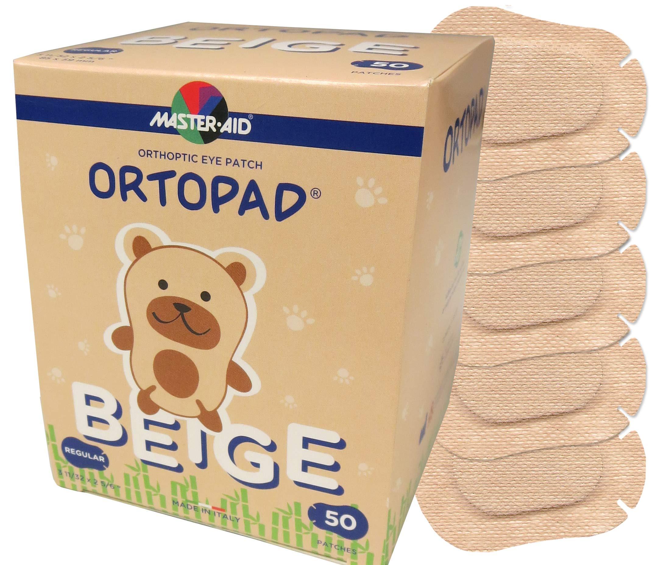 Ortopad Bamboo Beige Eye Patches - Regular Size (50 Per Box) by Ortopad
