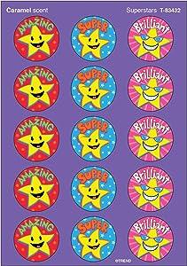 Trend Enterprises Inc. Superstars/Caramel Stinky Stickers, 60 ct.