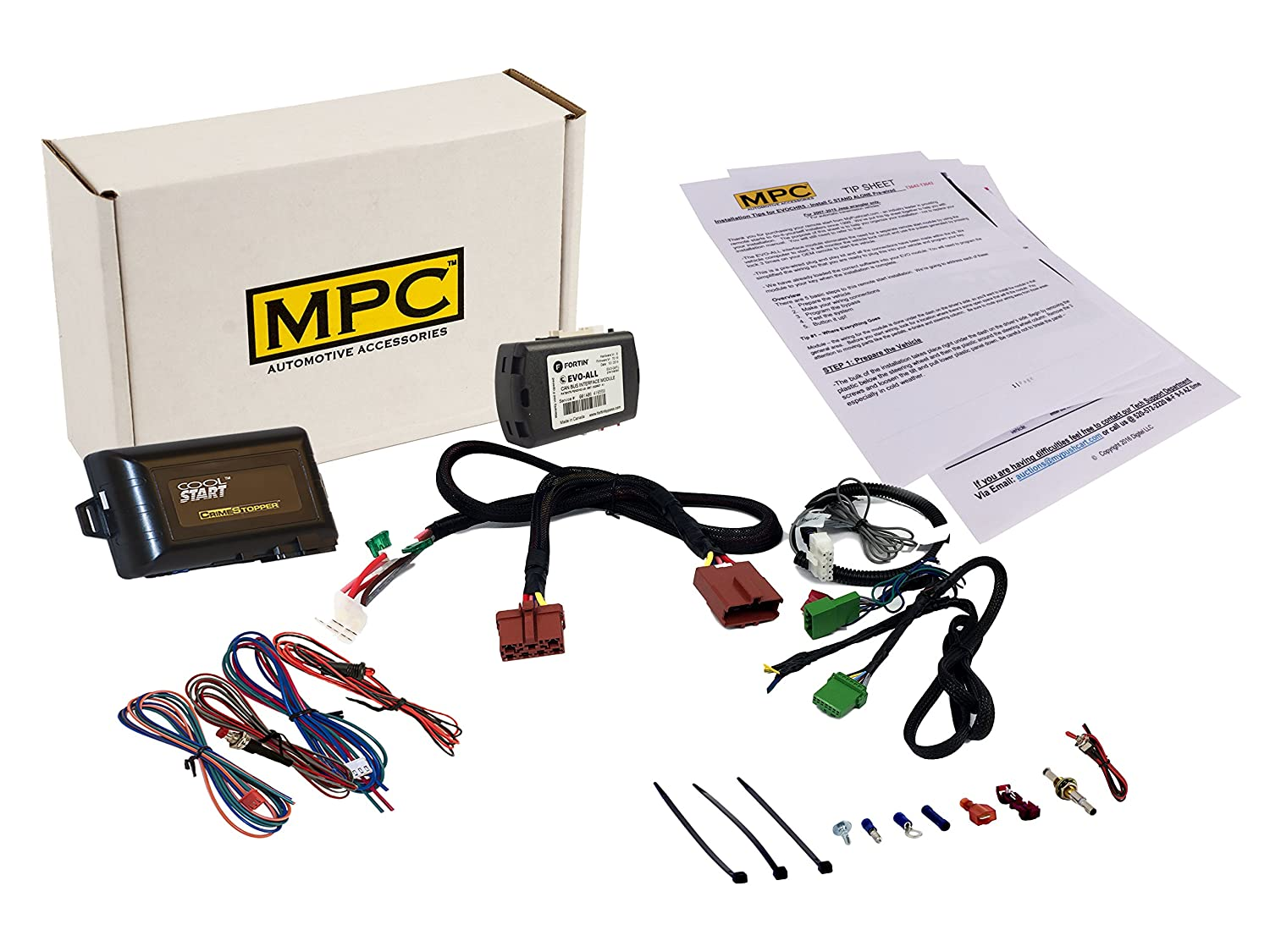 Mpc Complete Add On Remote Start For Honda Cr V 2007 Starter Wiring Harness 2011 Plug And Play Uses Factory Remotes Automotive