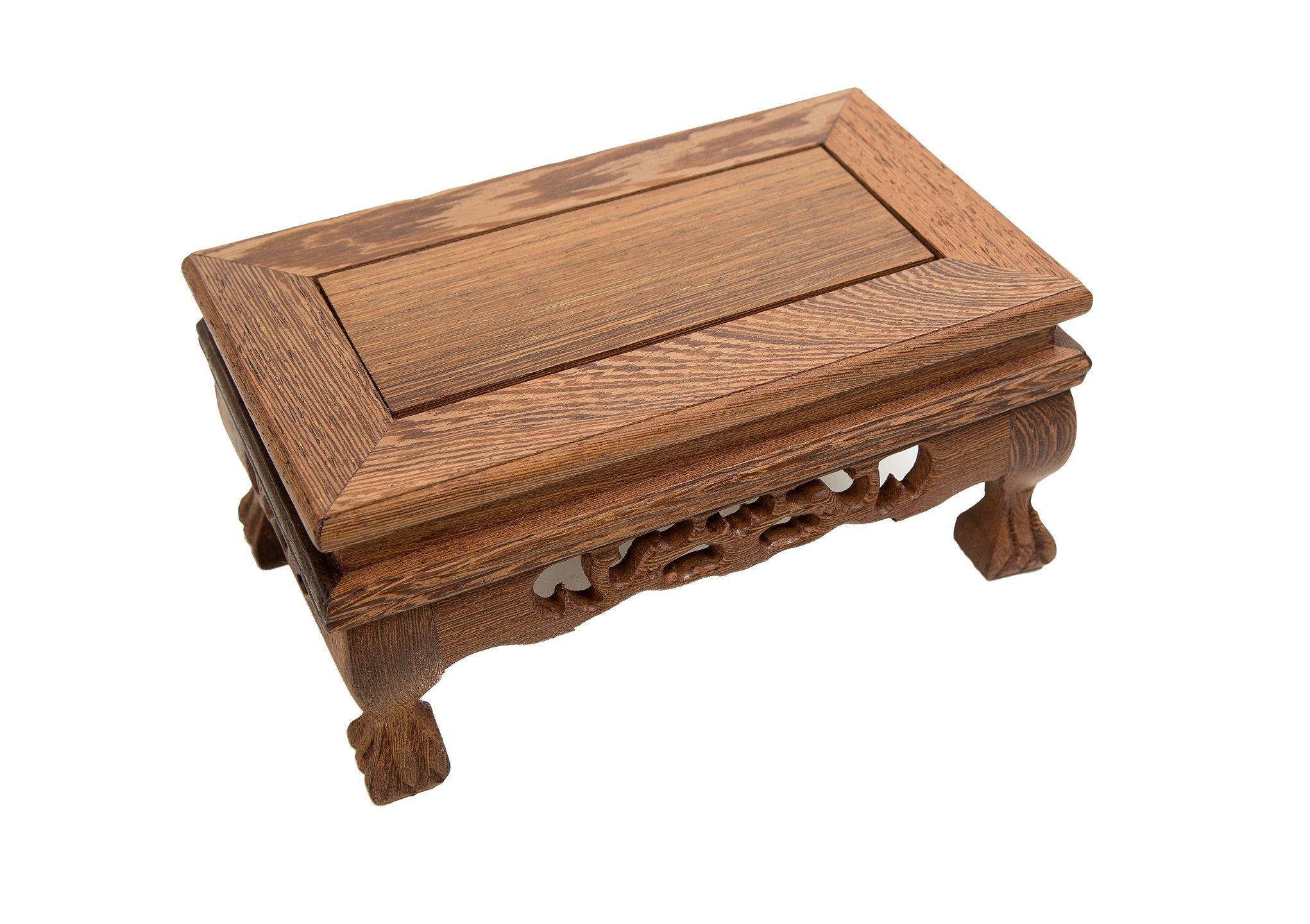 LuoLuo Chinese Display Stand Wooden Rectangle Shape Tiger Feet Carved Solid Rosewood JiChi Wood Display Base Holder For Arts Antique Etc, Home Decoration (S 18.5cm11cm9cm) by LuoLuo (Image #6)
