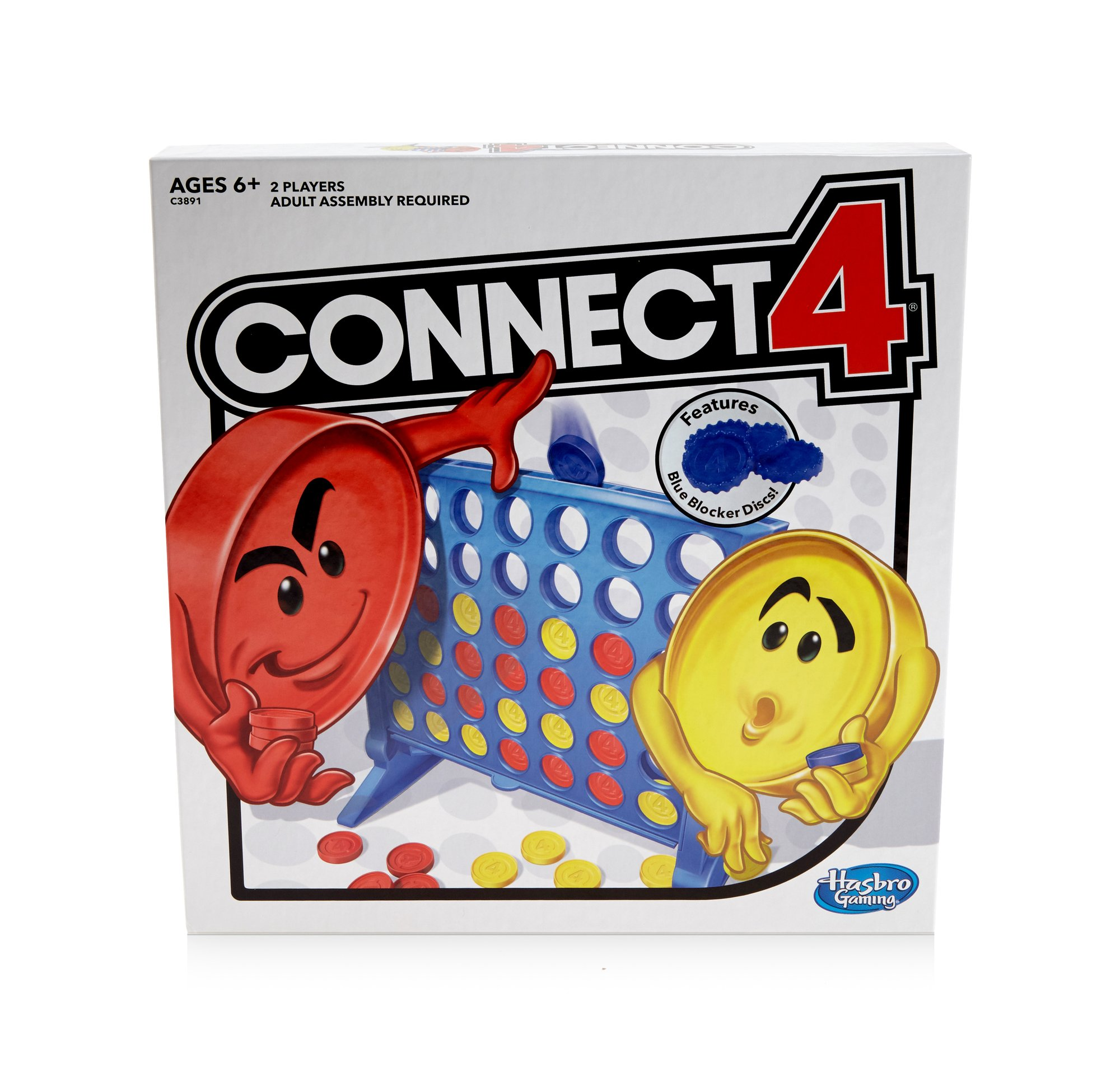 Connect 4 Strategy Board Game for Ages 6 and Up (Amazon Exclusive) by Hasbro Gaming