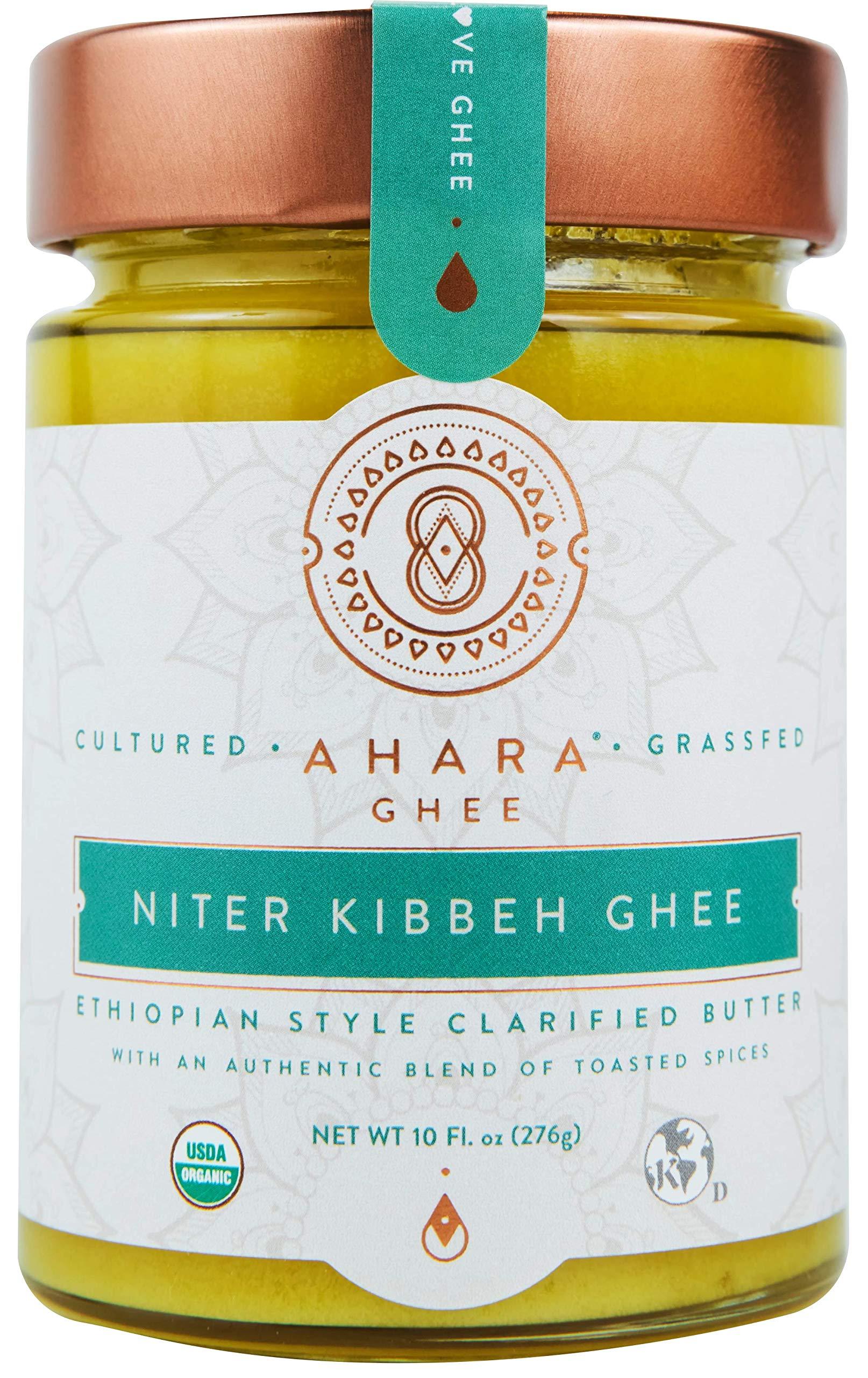 Niter Kibbeh Organic Ghee, Grass-Fed and Cultured - Ethiopian Spiced Ghee - (10 oz)