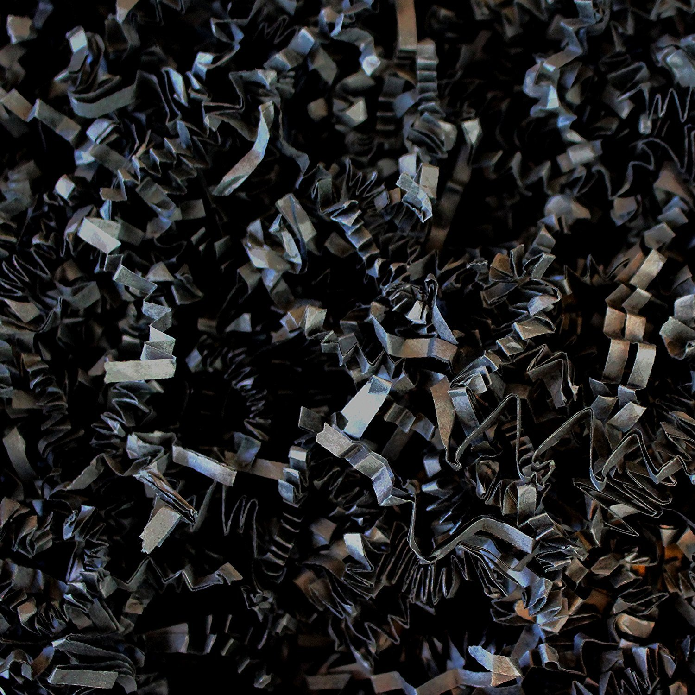 10 lb Natural Crinkle Cut Eco-Spring Fill, Filler for Packing Gift Baskets and Boxes~Box of 10 LB ~ Black - Good Value Paper Shred Filler