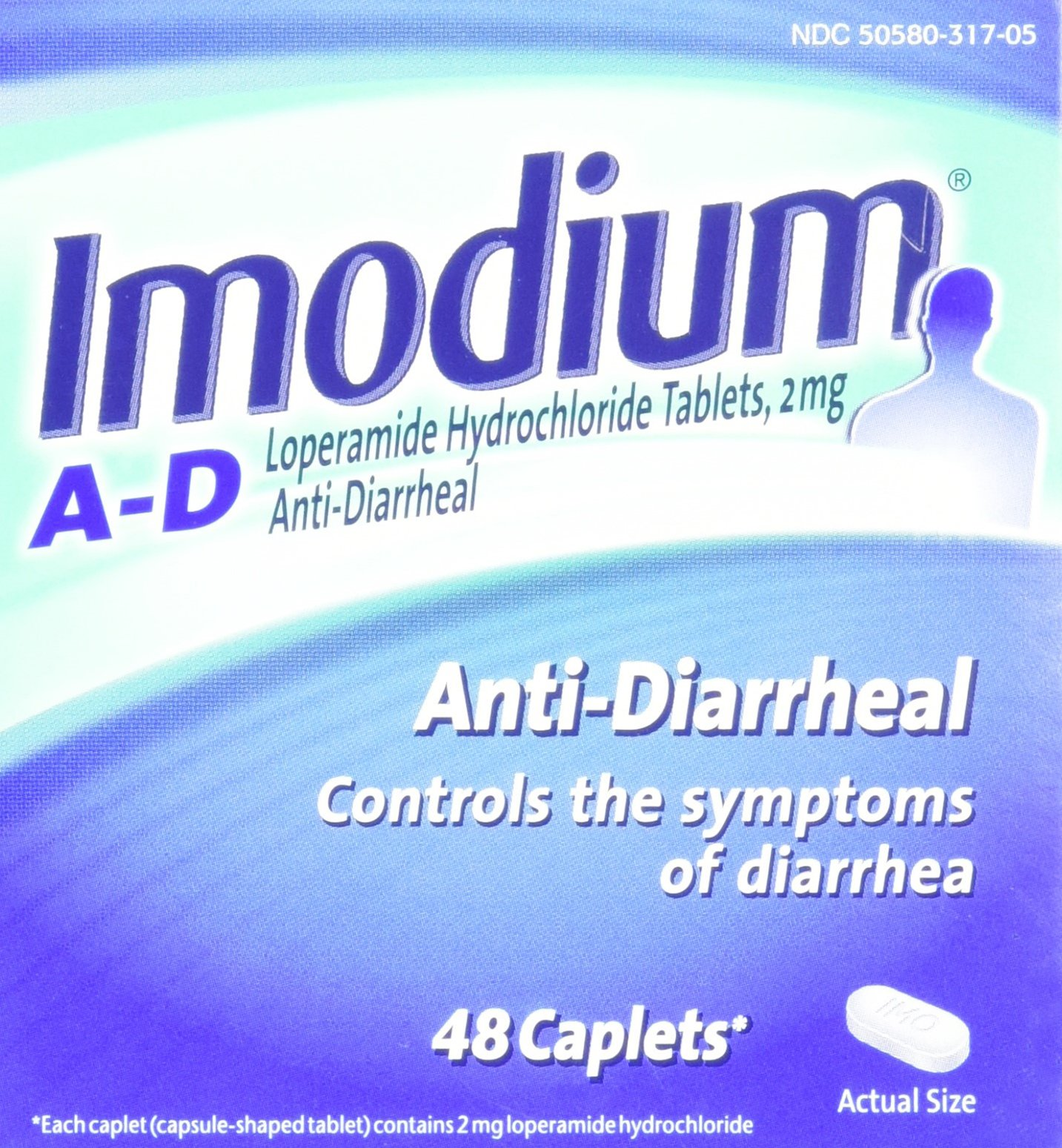 Imodium A-D Diarrhea Relief Caplets, 48 count, 2 mg by Imodium