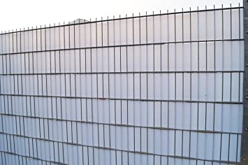 Bauprodukte Sichtschutz Profil Transparent Transluzent Keller Zaun