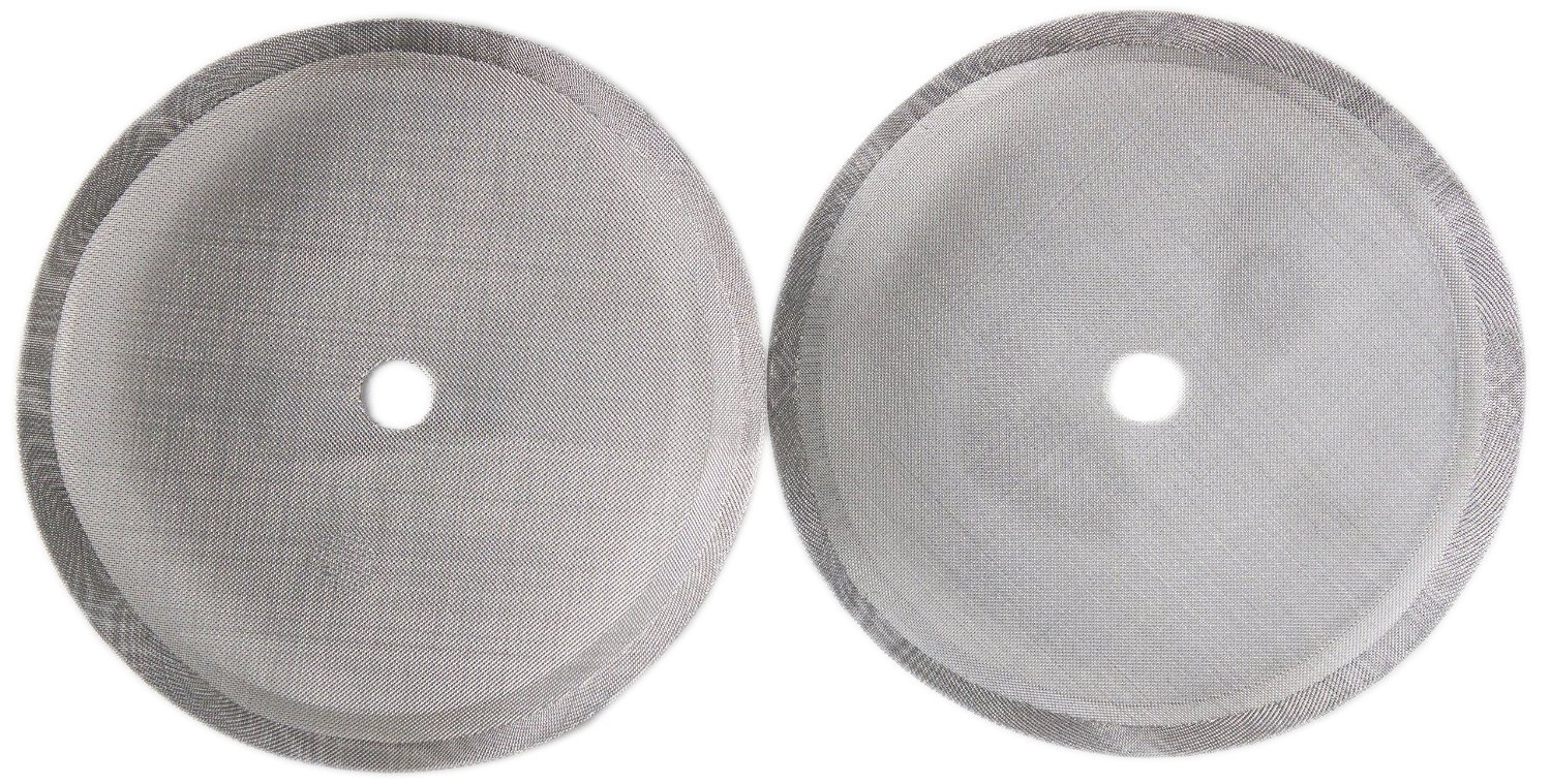 French Press Coffee Maker Universal 4,6, or 8 Cup Filter Screen (2 Pack) Replaces Bent and Worn French Press Mesh Screens