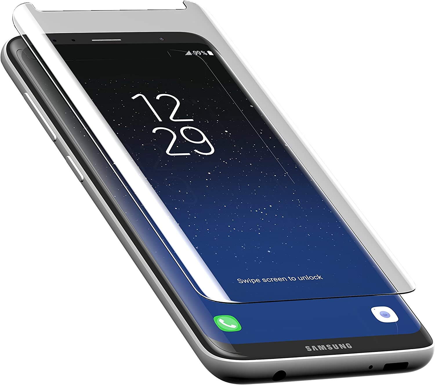 ZAGG InvisibleShield Premiere Glass Curve Screen Protector for Samsung Galaxy S8 - Scratch Resistance Tempered Glass