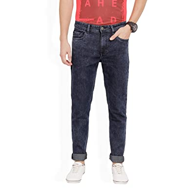 62af701d Derby Jeans Community Black Cotton Light Faded Slim Fit Stretch Jeans:  Amazon.in: Clothing & Accessories