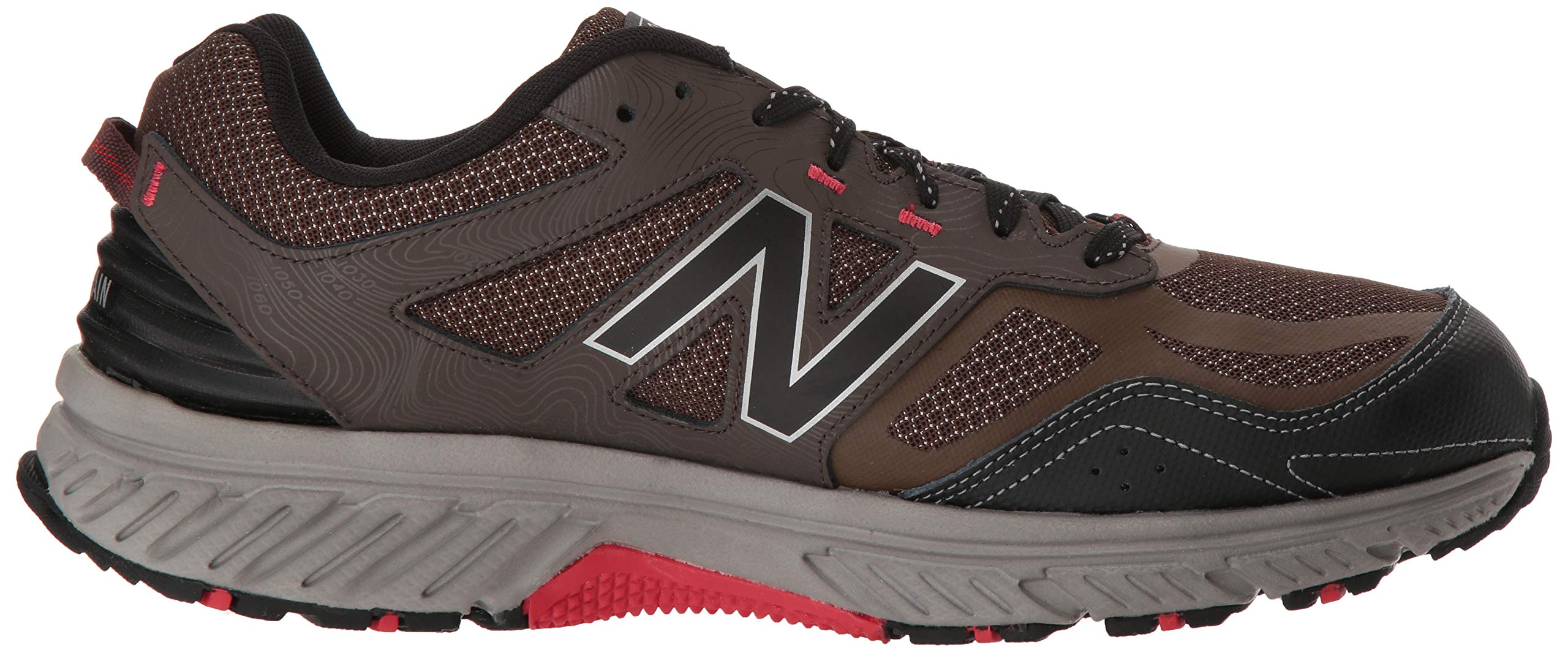 New Balance Men's 510v4 Cushioning Trail Running Shoe, Chocolate/Black/Team red, 7 D US by New Balance (Image #7)
