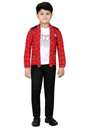 Buy TITANIC Boys T-Shirt with Jacket and Pant Set at Amazon.in