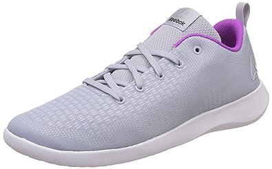 45b3c6f9c45324 Reebok Women s Esoterra DMX Lite Grey White Purple Nordic Walking Shoes - 4  UK