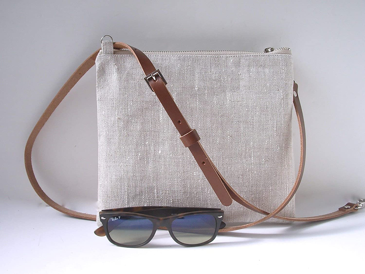 Simple Linen Crossbody Purse