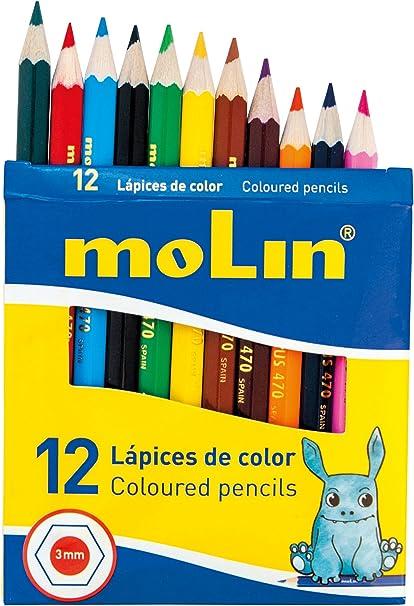 Molin LCP470-12B - Pack de 12 lápices de color: Amazon.es: Oficina y papelería
