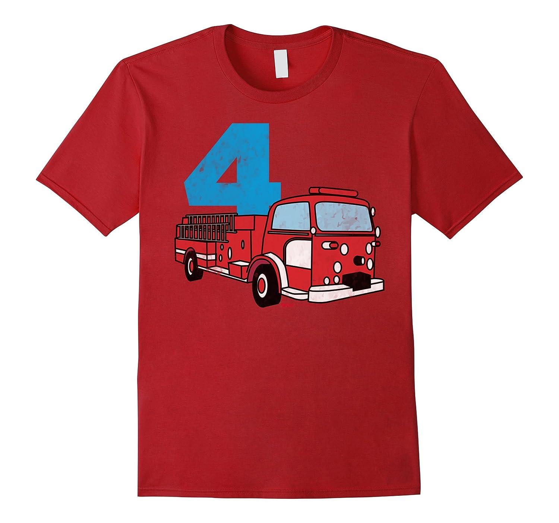4th Fireman Happy Birthday T Shirt For Kid Boys And Girls PL