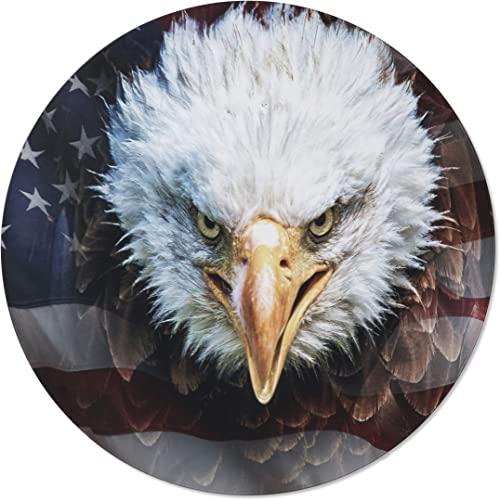 Next Innovations 3D Metal Wall Art – Bald Eagle American Flag Wall Decor – Patriotic Country Wall Art – Handmade in The USA for Use Indoors or Outdoors