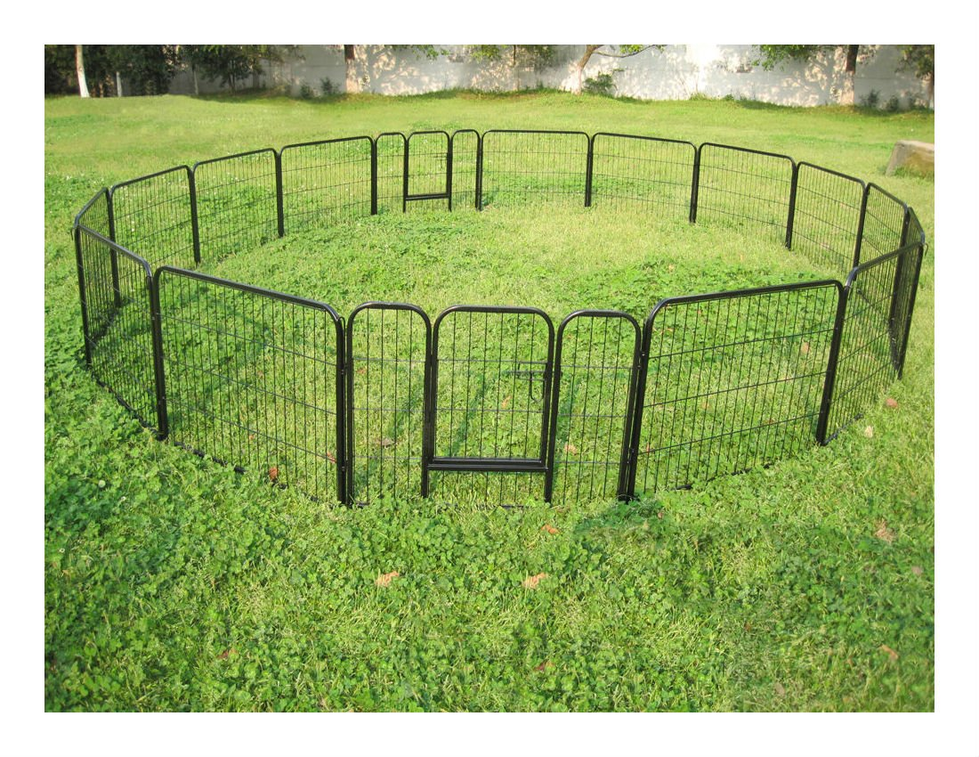 Large 16 Panels Pet Dog Cat Metal Exercise Barrier Fence Playpen Kennel Yard New Top Selling Item by Unbranded* (Image #2)
